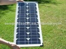 High efficiency 25w mono solar panel for light system