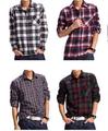 2015 100% de algodón elegante diseño comprobado de ocio los hombres camisa bordada con el logotipo de