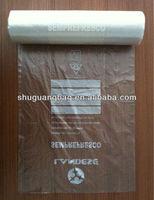 HDPE transparent food grade plastic bag