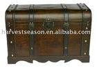 antique wooden trunk