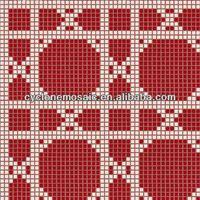 Glass mosaic pattern, Bisazza mosaic, tall mosaic glass candle holders