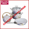 cast porcelain enamel cookware kettle wok pan pot/kitchen sauce pan fry wok /porcelain cookware tea kettle