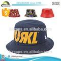la costumbre de impresión de cuero sombrero del cubo de la tapa en blanco al por mayor bucek sombrero