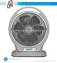 8inch/10inch/12inch box fan turbo fan blue box fan coil with 360 oscillation