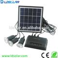 Portátil 6w sistema solar para uso en el hogar con lámparas led ce& rohs aprobado