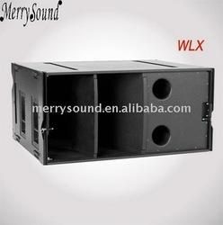 array sub-bass, speaker cabinet, Pro audio bass bin (WLX)