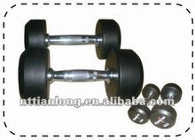 high quality rubber hex dumbbells