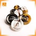 logotipo personalizado grabado botones de resina para prendas de vestir