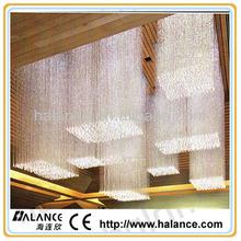 rectangular chandelier fiber optic side glow pendant light