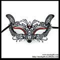 Lazer kesim me002 Venedik Maskeli kostüm MAN/kadın kırmızı kristalleriile parti maskesi