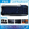 Max 20keys anti-ghost input tri-color led gaming keyboard