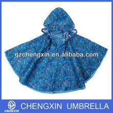 top quality kid rain poncho with binding