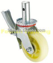 Heavy Duty Pattern Nylon Industrial Scaffolding dual brake casters
