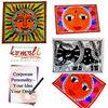 Sun Faced Madhubani Paintings Greeting card - Indian Folk Painting - Custom Made Paintings