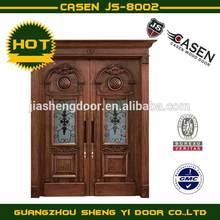 Double swing main entrance wooden door