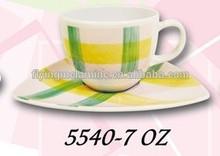 7Oz tea cup and saucer