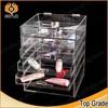 fashional clear acrylic makeup organizer, wholesale acrylic makeup organizer with drawers,acrylic cosmetic organizer