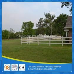 PVC horse fencing
