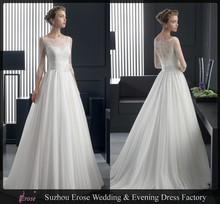 MGA-028 2014 Elegant lace Half sleeve Alibaba Wedding Dress