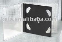 10.4MM Black Tray Double Discs PS CD Jewel Case