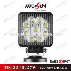 12v/24v DC 27W flood led drive over lights, IP-67 waterproof LED offroad lighting (MS-2210-27W)