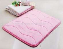 Pink Home Non-Slip microfiber memory foam carpet
