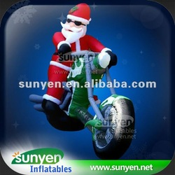 Inflatable Motorcycle Santa Claus Delivery Gifts