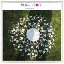 Fashionable handmade craft wrought iron eco-friendly elegant white home decoration