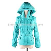 Women's clothing spring jacket with hood, winter padded jacket 2013