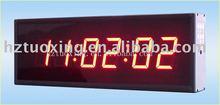 2.3 inch 6 digit led digital wall clock
