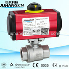 Two-piece type pneumatic actuator mounted ball valve