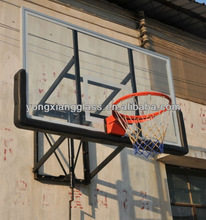 Wall Mounted Height Adjustable Acrylic Basketball System