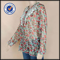 2013 diseños florales de los modelos de blusas de gasa