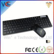 Hot Selling VWT-02 black/white usb 2.4g mouse wireless keyboard