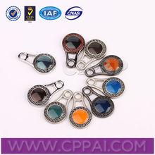 Colorful fancy round custom zipper pulls