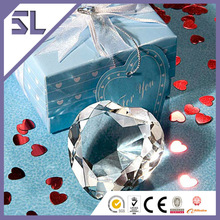 Brilliant Crystal Heart Shape Paperweight Wedding Gift