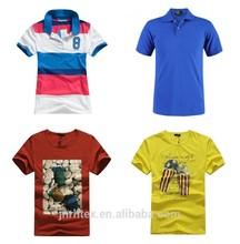 High quality cotton print man t-shirt, man polo t-shirt with logo