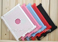 HOT! Silicone Net Mesh Style Protective Hard Shell Skin Cover Case Back Case Cover for iPad 2 KSL035