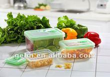 3pcs rectangular shape airtight food container