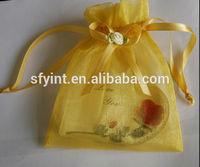 decoration gold organza pouch