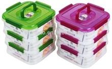 445 Food Stackable locked Freezer plastic storage box with handle