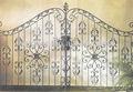 Puerta de metal artística/camino de entrada de hierro puertas/puertas de hierro forjado