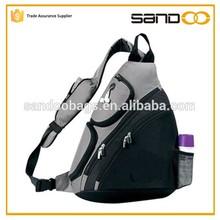 China supplier travel triangle backpack, branded hiking men sling bag