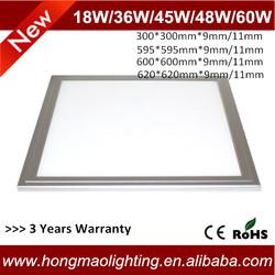 36W Samsung LED 600X600mm square flat ceiling led panel light price