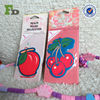Non-toxic And Offset Printing Fruits Custom 6 x 9 cm Paper Air Freshener for Car