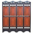 2014 hot sell vintage wooden carved screen room divider