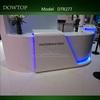 2014 Dowtop Contemporary pure white curved beauty salon reception desk