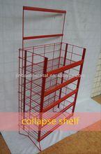 hot design wood folding display shelf