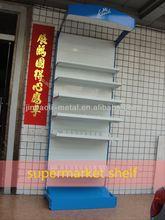 single side free standing supermarket vegetable and fruit display shelf
