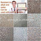 HYB-MBM mirror metal mosaic tiles stone mosaic tile backsplash bright color mosaic tile